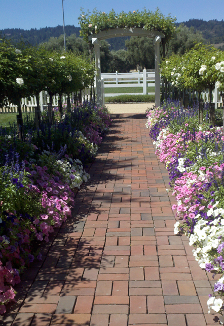 The entrance to the Sullenger House, awash in springtime color!