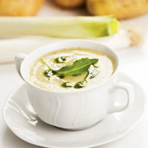 Napa Valley Chardonnay: Potato Leek Soup