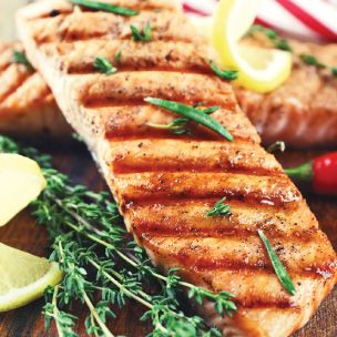 Wine Websites: Salmon With Herb Butter